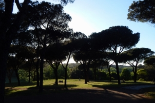 Park Villa Pamphili in Rome.